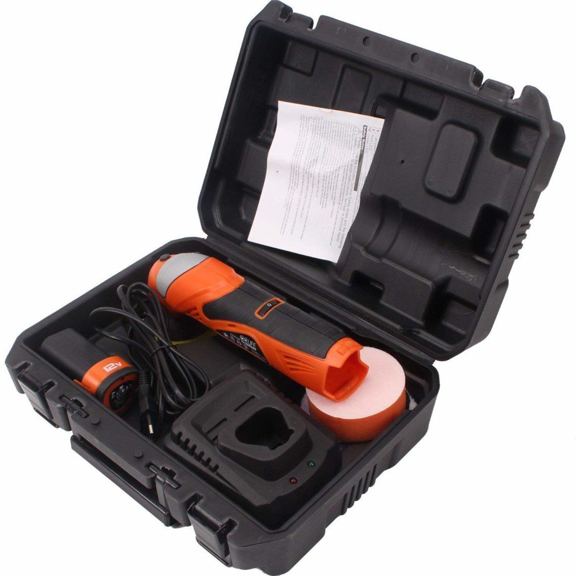 Coffret CCLIFE polisseuse lustreuse pour voiture 12 v 3
