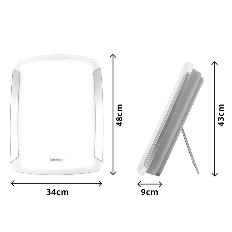 Duronic SADV1 Lampe de luminothérapie 10 000 Lumens : dimensions