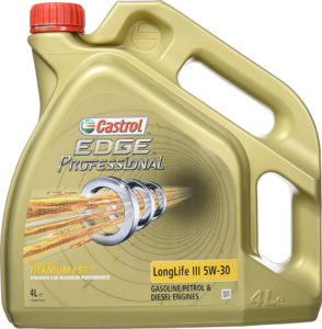 This image has an empty alt attribute; its file name is Castrol-edge-professional-5w-30-longLife-iII-4L-1-294x300.jpg