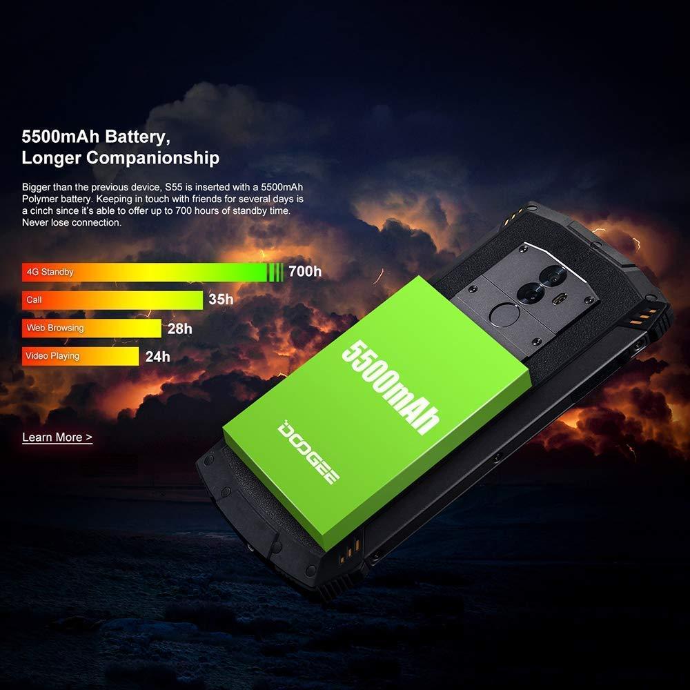DOOGEE S55 smartphone résistant étanche et antichoc - 3