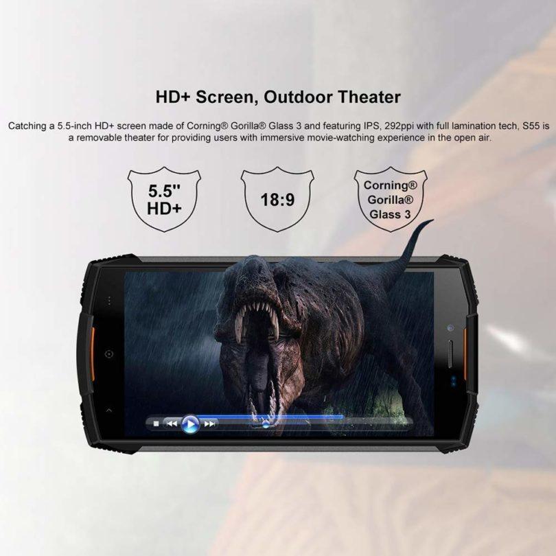 DOOGEE S55 smartphone résistant étanche et antichoc - 5