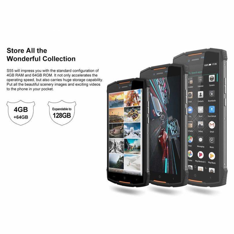 DOOGEE S55 smartphone résistant étanche et antichoc - 6