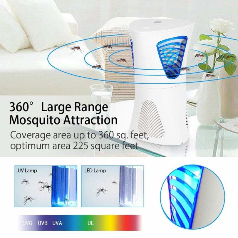 FOCHEA Lampe Anti-Moustiques photocatalyseur d'intérieur chambre séjour salon - 2