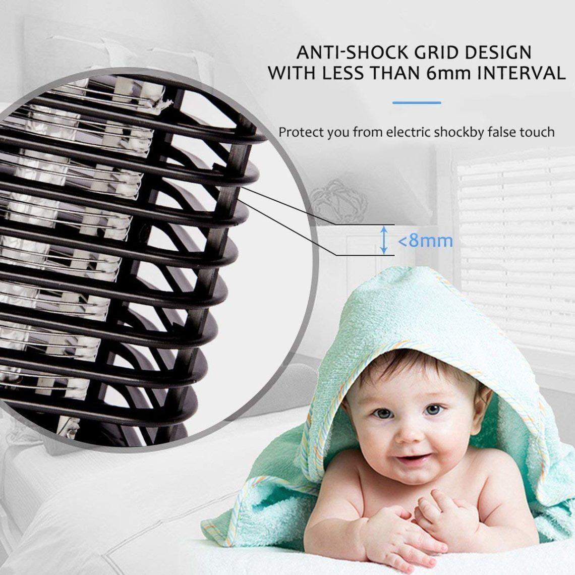 Iweed lampe anti moustique photocatalyseur intérieur et extérieur ampoule puissante -2
