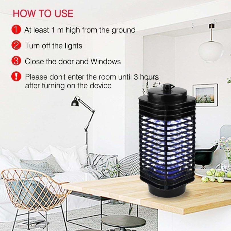Iweed lampe anti moustique photocatalyseur intérieur et extérieur ampoule puissante -5