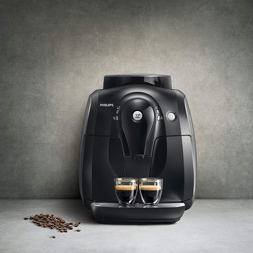 Philips HD865001 Machine Espresso Super Automatique Série 2000 : café grain