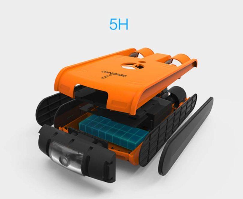 HYLH Drone sous-Marin caméra plongée nautique pour adulte - 4
